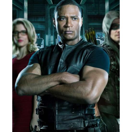 John Diggle Arrowverse Leather Vest