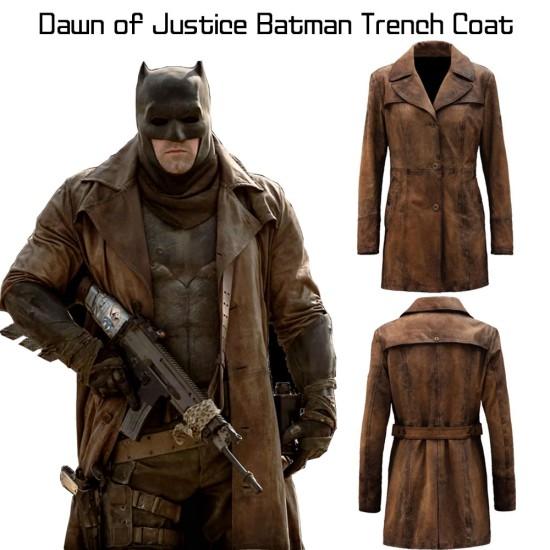 Ben Affleck Dawn of Justice Batman Trench Coat