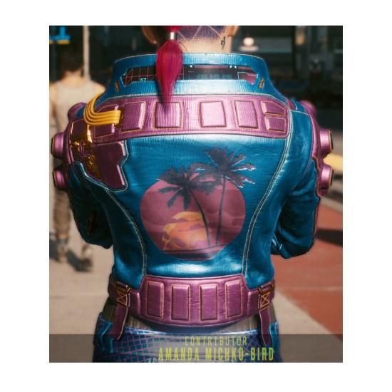 Deadly Lagoon Armored Syn-Silk Pozer Cyberpunk Leather Jacket