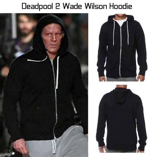 Deadpool 2 Wade Wilson Black Hoodie