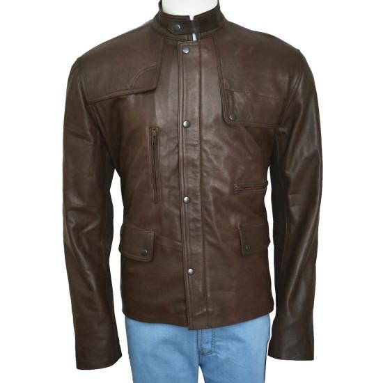 Deadpool Film Ajax Brown Leather Jacket