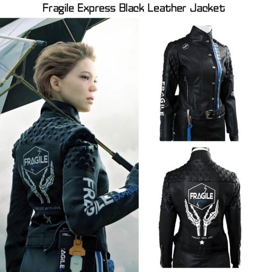 Death Stranding Fragile Express Black Leather Jacket