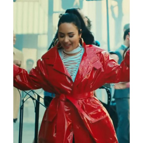 Demi Lovato Tell Me You Love Me Red Leather Coat