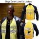 Biker Boyz Yellow and Black Leather Jacket