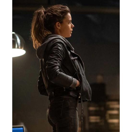 Devils Laia Costa Belted Leather Jacket