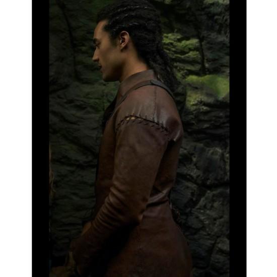 Devon Terrell Cursed Belted Leather Jacket