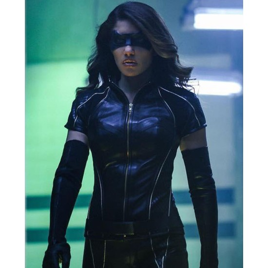 Arrow Season 6 Black Canary Leather Jacket