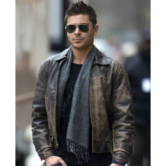 Zac Efron New Year's Eve Paul Leather Jacket
