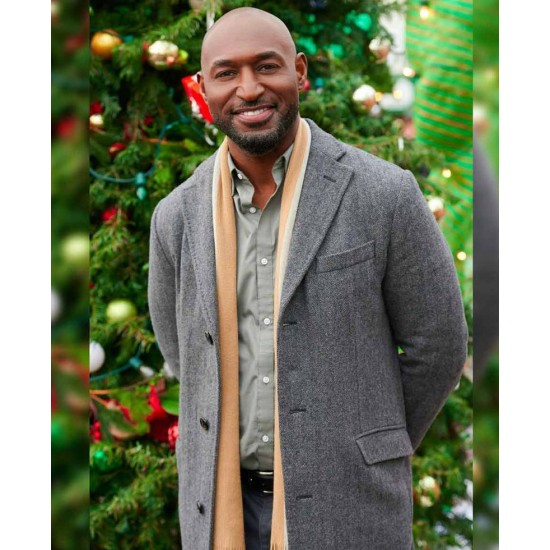 Adrian Holmes The Christmas Doctor Grey Coat