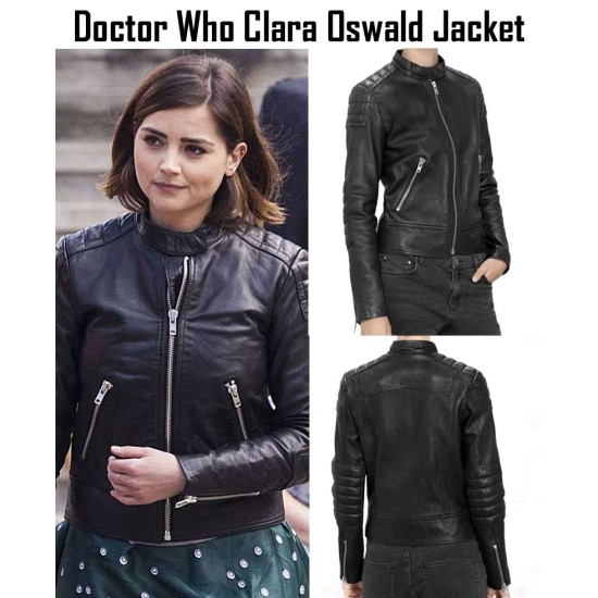 Doctor Who TV Series Clara Oswald Leather Jacket