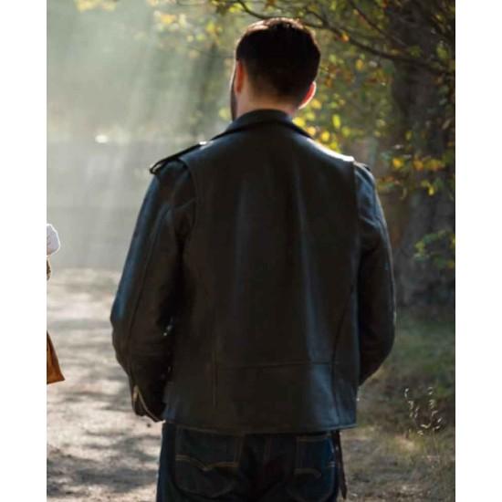 Doctor Who Josh Bowman Black Leather Jacket
