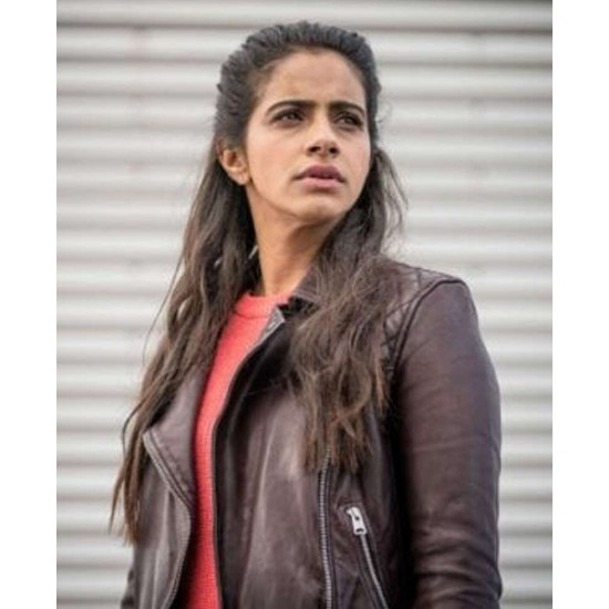 Doctor Who Mandip Gill Brown Leather Jacket