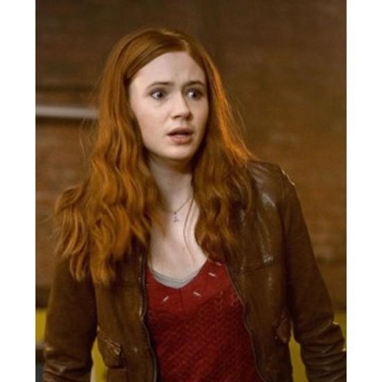 Karen Gillan Doctor Who Amy Pond Brown Jacket