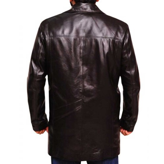 Dominic West The Wire Leather Coat