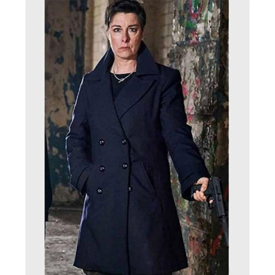 Hitmen Sue Perkins Blue Wool Coat