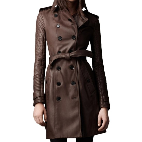 Women's Mid Length Double Breasted Coat
