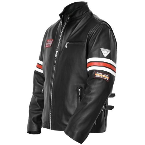 Dr. Gregory House Hugh Laurie Biker Leather Jacket
