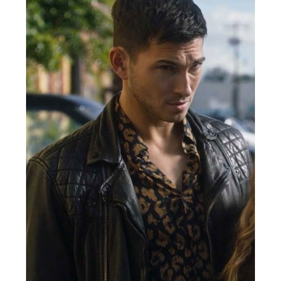 Driven to the Edge Robert Scott Wilson Quilted Leather Jacket