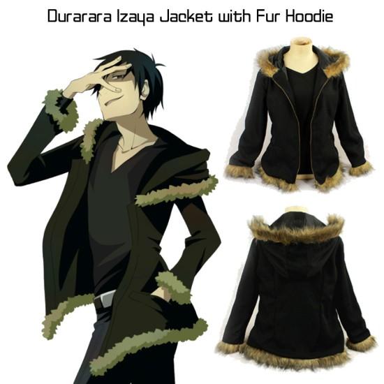 Durarara Izaya Jacket with Fur Hoodie