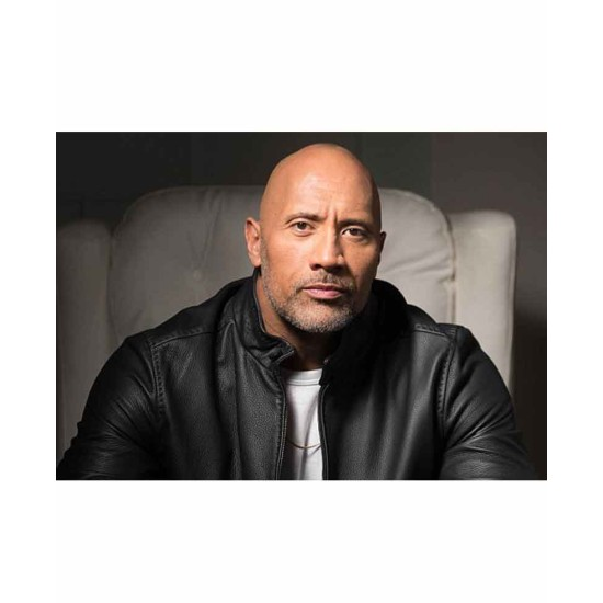 Dwayne Johnson Fighting with My Family Black Leather Jacket