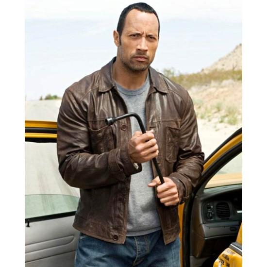 Race To Witch Mountain Film Dwayne Johnson Leather Jacket
