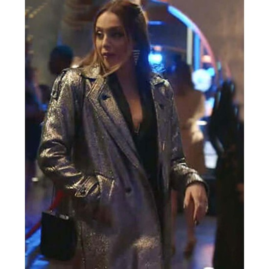 Dynasty Elizabeth Gillies Silver Coat