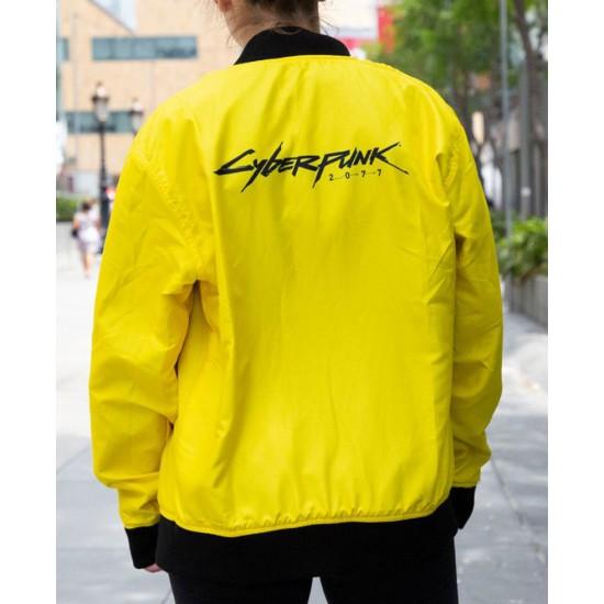 Cyberpunk Yellow Bomber Jacket