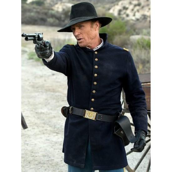 Ed Harris Blue Westworld Coat