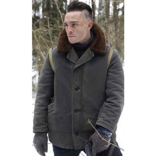 Enemy Lines Ed Westwick Grey Jacket