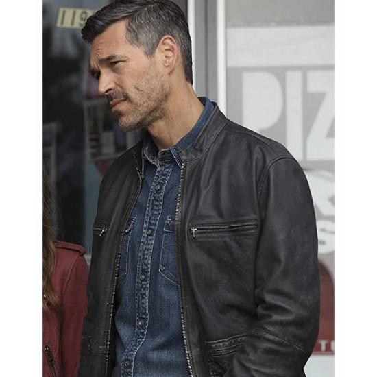 Eddie Cibrian Take Two Black Leather Jacket