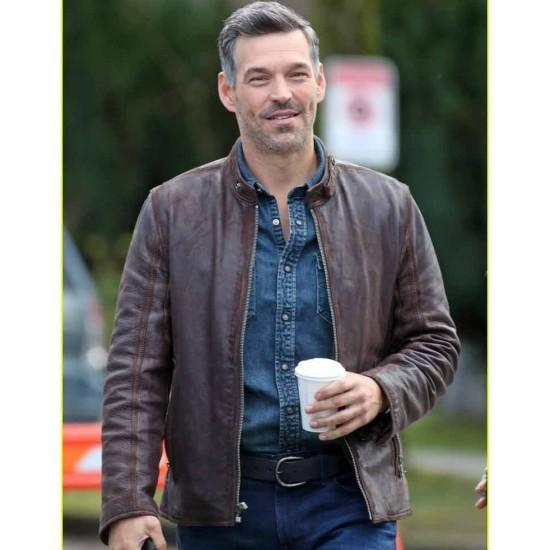 Eddie Cibrian Take Two Brown Leather Jacket
