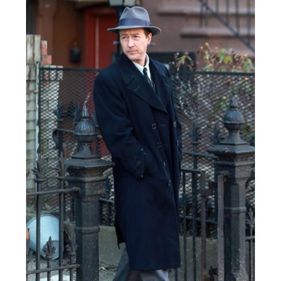 Edward Norton Motherless Brooklyn Wool Coat