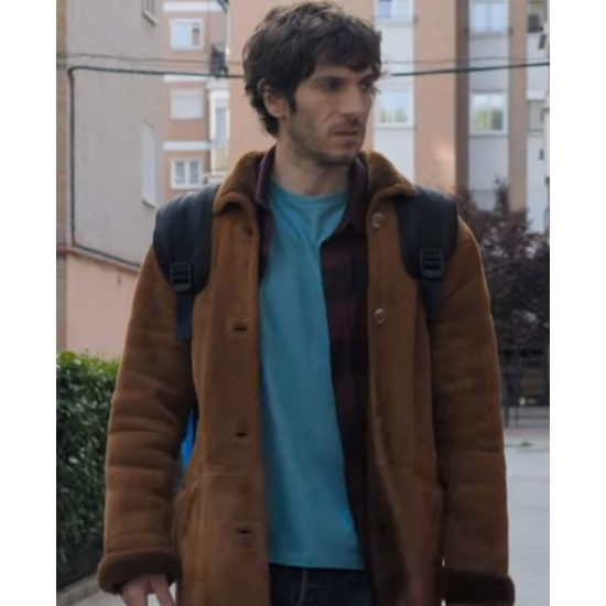 El Vecino Quim Gutierrez Suede Brown Coat