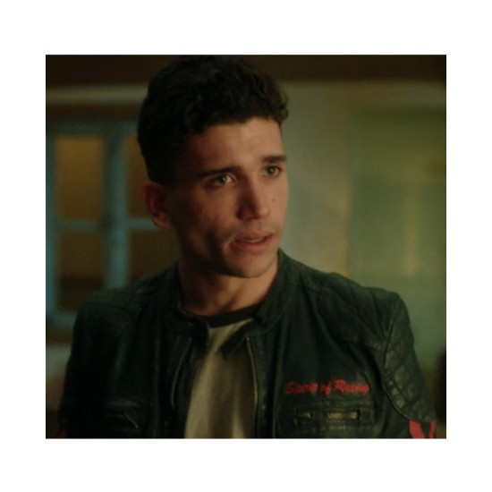 Elite Jaime Lorente Biker Leather Jacket