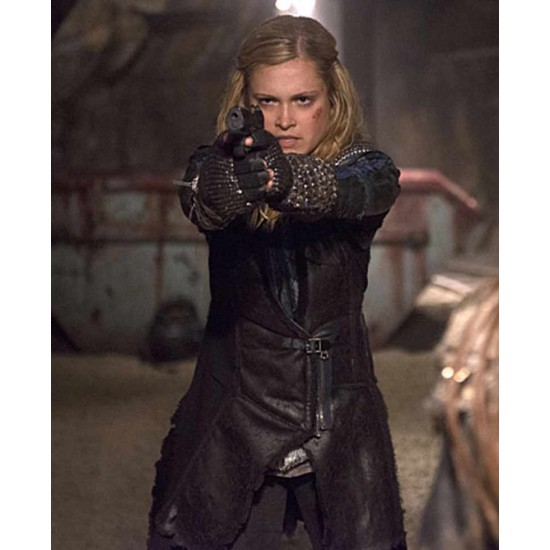 Clarke Griffin The 100 Leather Coat