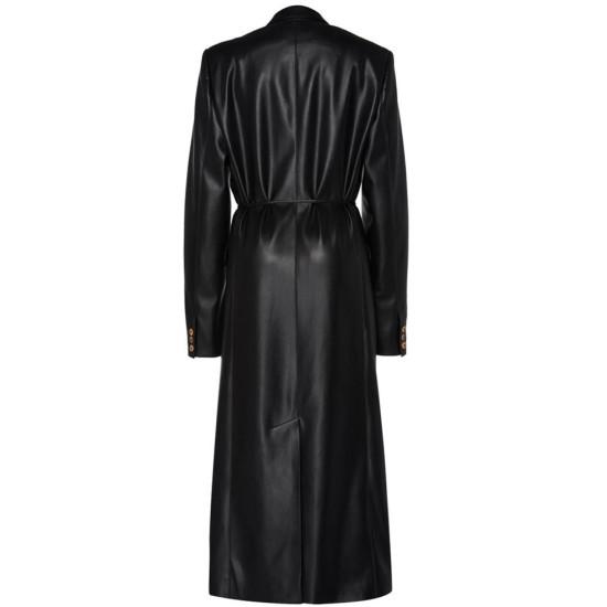 Dynasty Elizabeth Gillies Leather Coat