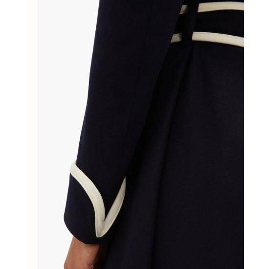 Dynasty S03 Elizabeth Gillies Belted Coat