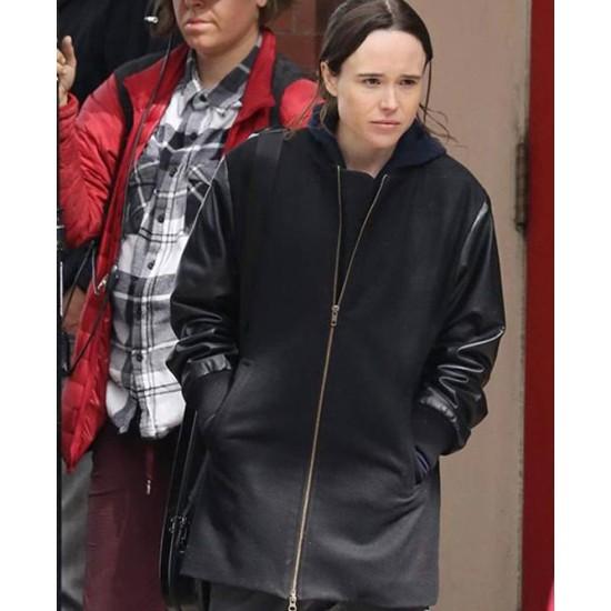 Ellen Page The Umbrella Academy Black Coat