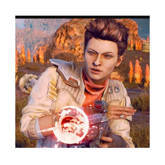 Ellie The Outer Worlds White Leather Jacket