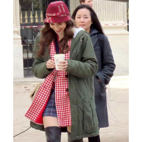 Emily in Paris Lily Collins Hooded Coat