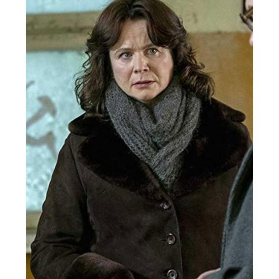 Emily Watson Chernobyl Shearling Coat