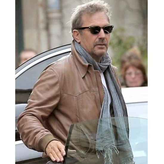 Ethan Renner 3 Days To Kill Kevin Costner Leather Jacket