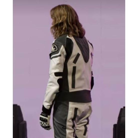 Eurovision Song Contest Lars Erickssong White and Black Biker Jacket