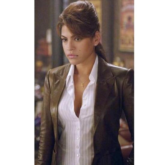 Ghost Rider Eva Mendes Leather Jacket