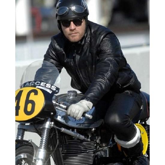 Ewan Mcgregor Goodwood Revival Motorcycle Leather Jacket