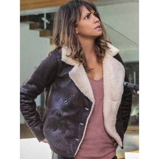 Extant Halle Berry Brown Leather Jacket