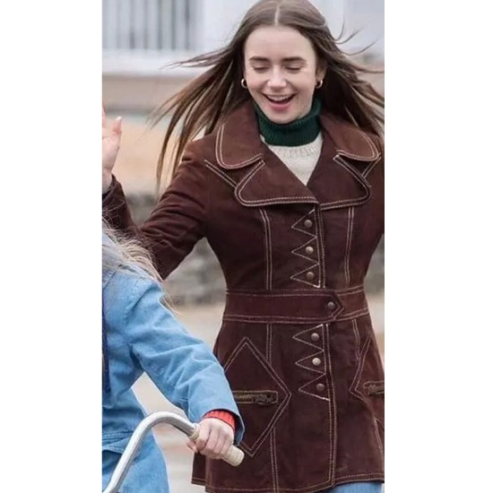 Extremely Wicked Lily Collins Coat