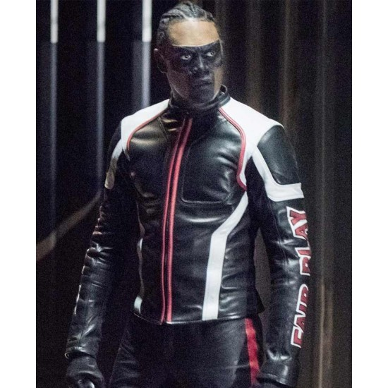 Echo Kellum Arrow Dangerous Liaisons Mr Terrific Leather Jacket