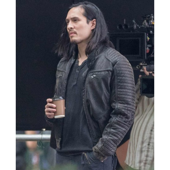 Desmond Chiam The Falcon and The Winter Soldier Quilted Leather Jacket