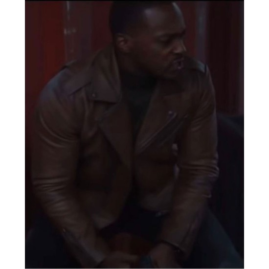 Falcon and Winter Soldier Anthony Mackie Asymmetrical Leather Jacket